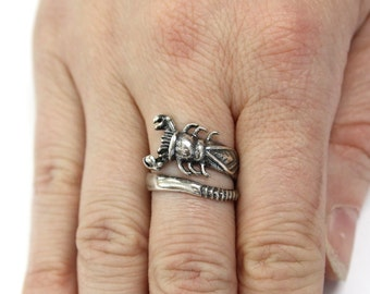 sterling turkish on silver of men life goth s craft rings best scorpio ring gothic images pinterest tree scorpion jewelry