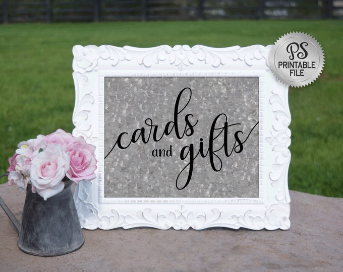 Cards and Gifts Wedding Sign | PRINTABLE Country Wedding Cards & Gifts sign, Digitial Galvanized Wedding signage, Barn Wedding Decorations