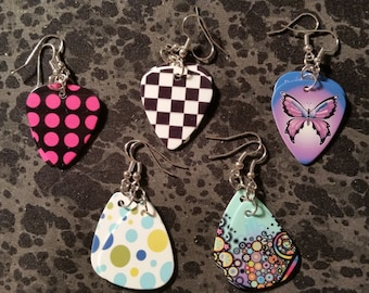 Guitar Pick Earrings - Pick Your Style