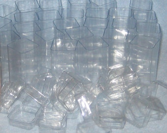 Small Clear Plastic Favor Tubes with Lids
