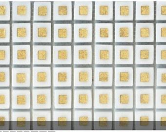 Decorative Gold etched mosaics for backsplash tile
