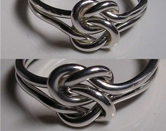 Lovers Double Love Knot Rings.