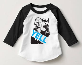 REBEL YELL Tee shirt - baby, toddler, youth, women, men, Billy Idol, band, rock, post punk, mommy and me, family tee shirts, gift