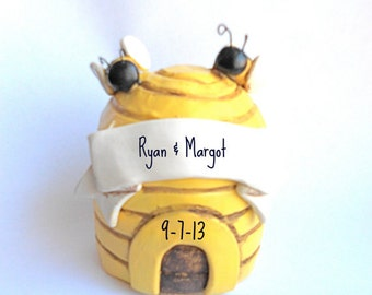 Sweet Honey Bee Wedding cake topper