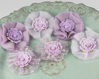 Prima Marketing Bronte Blooms Orchid Fabric Flower Embellishement Lavender