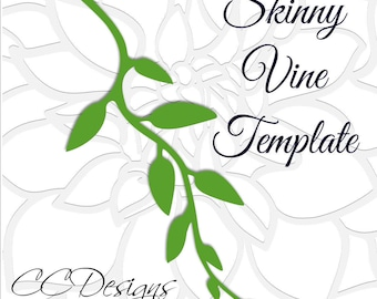 Skinny Vine SVG Cut file, Leaf and Vine Templates, Paper Flower Templates, Instant Download