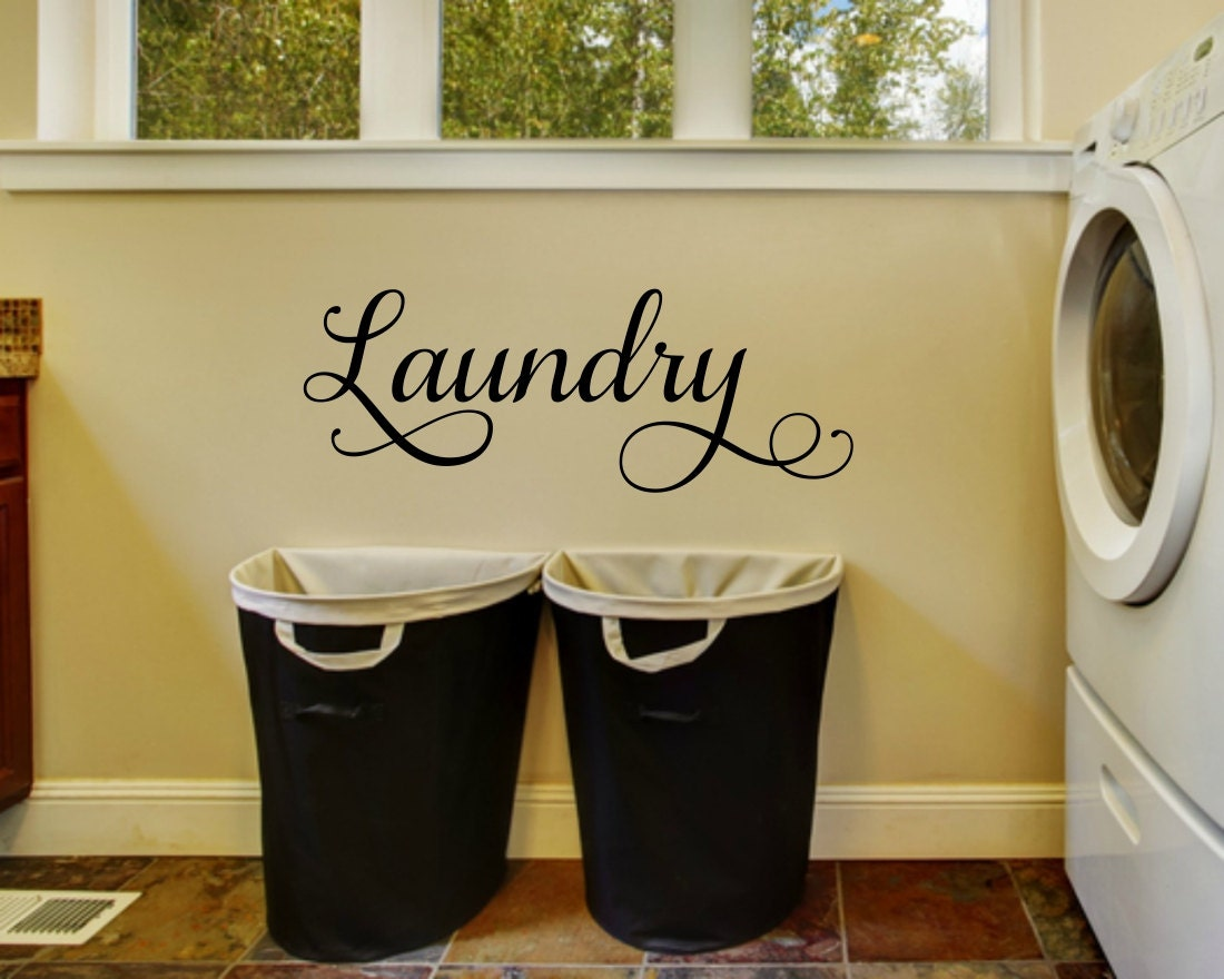 Laundry Wall Decal Laundry Vinyl Decal Laundry Room Decal