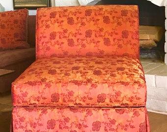 Vintage Hollywood Regency Slipper Chair