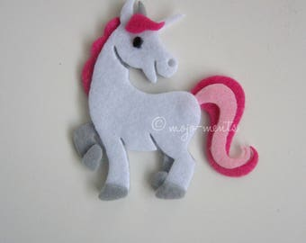 Felt Unicorn Die Cuts - Pack of 5 - Assembled and Ready To add Straight On To Your Projects