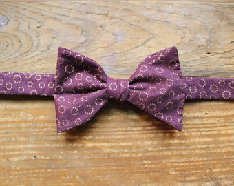 Cotton Bow Tie - Royal & Gold
