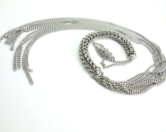 """Chainmaille """"Cat of Nine Tails"""" Novelty Flogger Whip"""