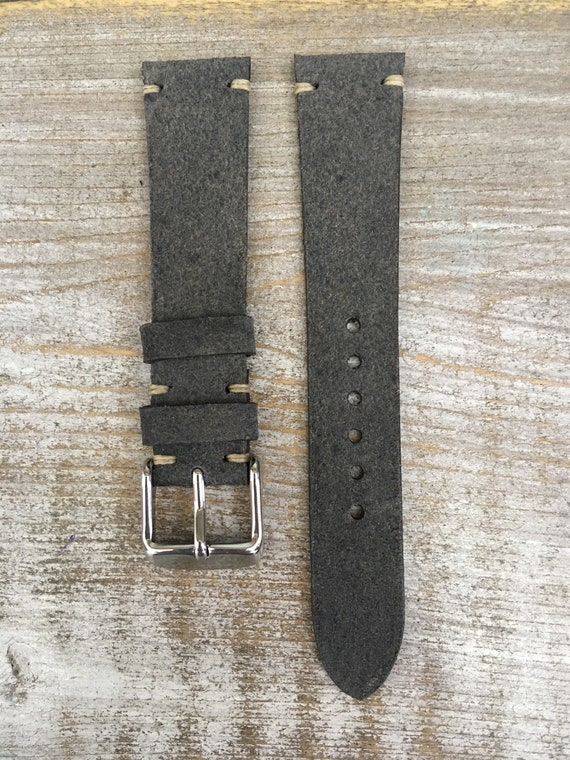 18/16mm Classic Italian Calf watch band - Dark Grey