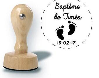 Custom baptism stamp