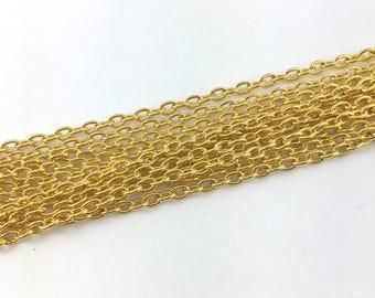 4 metres of gold metal mesh