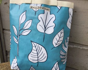 Turquoise Lunch Tote, turquoise lunch bag, turquoise tote bag, reuseable shopper, bag 4 life, turquoise dhopper, handmade lunch bag
