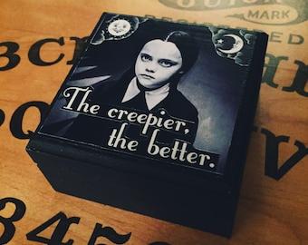 Wednesday Addams Keepsake Box, Jewelry Box, The AddamsFamily, Ouija