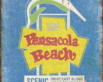 """Pensacola // Metal Sign // 12"""" x 16"""""""