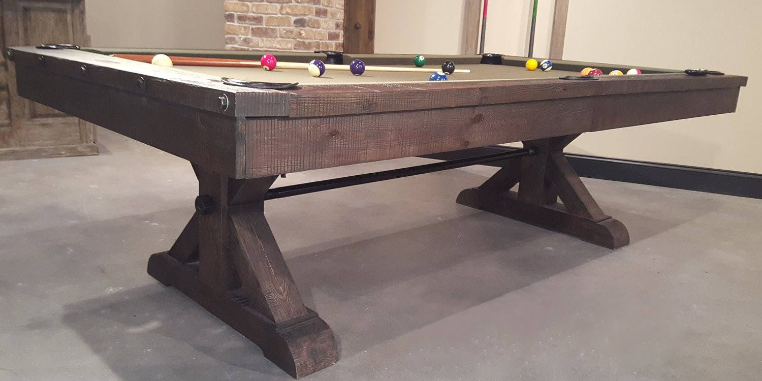 Rustic Pool Table, Pool Table, Pool Tables For Sale, Billiards Table, Game  Table, Family Games, Game Room, Man Cave, Mancave Decor, Hardwood