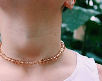 Rose beaded Choker