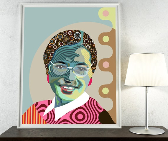 Rosa Parks African-American Civil Rights activist, Montgomery Bus Boycott, Black History Painting Portrait Art, African American Wall Art