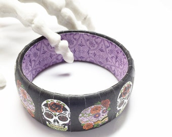 Sugar Skull Bracelet - Sugar Skull Jewelry - Day of the Dead Jewelry - Coco Bracelet - Skull Bracelet - Dia De Los Muertos Jewelry