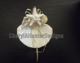 Gold Sea shell Wedding Ring Holder