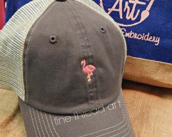 Ladies Trucker Hat Mini Design Mesh Back Baseball Cap Hat Mom Bridesmaid Bride Bachelorette Beach Anchor Flamingo Sea Horse Crab Lobster