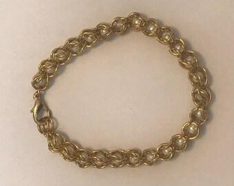 Captured chain mail bracelet