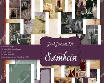 Junk Journal Printable pages:SAMHEIN Traveler's Notebook size