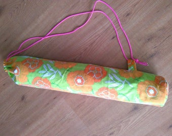 Upcycled yoga mat tas