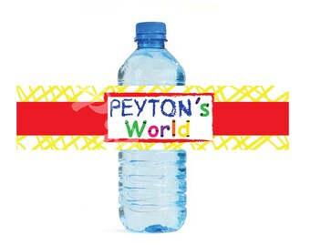 Elmo's World Sesame Street themed Water Bottle Labels - Customized Digital File