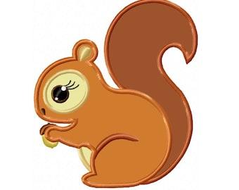 Woodland Squirrel...Instant Download...Applique Machine Embroidery DESIGN NO.486