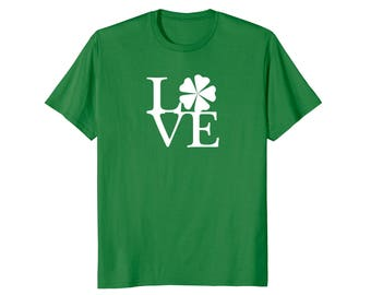 The Love Lucky Charm Shamrock T-Shirt - St Patricks Day Green Shirt for Men, Women and Kids
