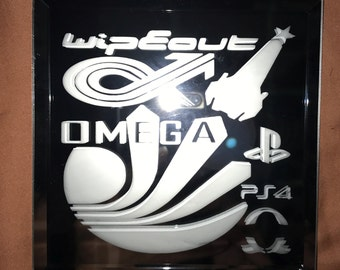 Wipeout Omega Collection PS4 Logo Limited Edition Mirror Glass Etching