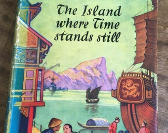 Dennis Wheatley,Island Where Time,Stands Still,1950s thriller,1st Edition,Gregory Sallust,James Bond,Adventure book, 1950s book,spy book