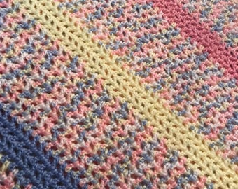 baby blanket/car seat blanket/stroller blanket/ soft, blue, pink, yellow- READY TO SHIP
