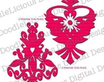 2 Damask SVG Files