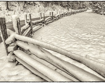 Snowy Fence in the Smoky Mountains E96