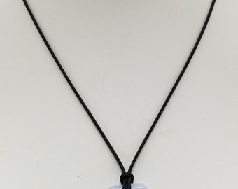 Blue Lace Agate Pendant Necklace, Free Shipping (18493), Blue Lace Agate Necklace, Pendantlady,Pq