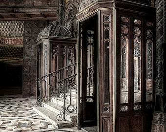 urban exploration, photography, Hungary, Budapest, Urbex, art print, abandoned place, sepia, Art Nouveau, Jugendstil, digital download