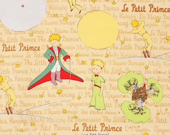 """The Little Prince(Le Petit Prince) Fabric made in Japan FQ 45cm by 53cm or 18"""" by 21"""""""