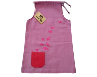 Free as a Bird Dress//SIZES from 2 to 5Y//Cool Girl's Dress//Music Girl's Dress//Girl Clothes//Girl's A-line Dress//Gift for Girl//Lilac