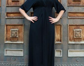 Plus Size Maxi Dress, Plus Size Black Dress, Plus Size Clothing, Black Maxi Dress, Oversized Dress, Long Black Dress, Oversized Clothing