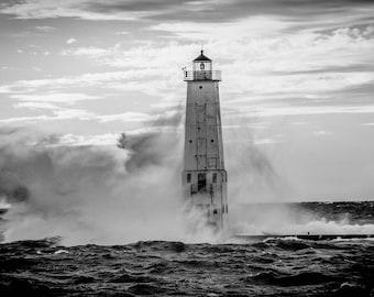 A Windy Day on Lake Michigan