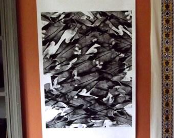 Large bond paper print of deer bones -- 18x36
