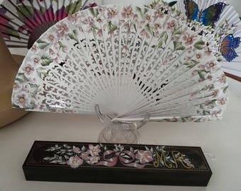 Fan, fan hand painted
