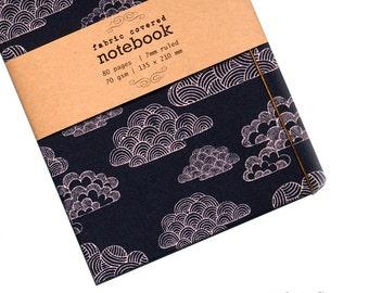 Blue Nimbus Fabric Covered Notebook