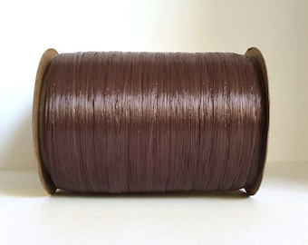 Chocolate Brown Raffia Ribbon - 30/100 yards - 1/4 inch wide
