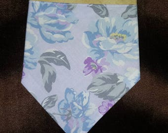 "12"" Pastel Flowers and Antique Yellow SMALL Pet Bandana"