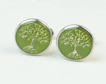 Tree of life cufflink, life tree cufflinks, tree cuff links, wedding cufflinks, groom cufflinks